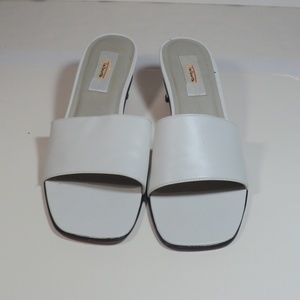 Talbots White Slide Sandals